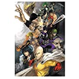 One Punch Man Poster Anime Posters Manga Paintings for Wall Decorations for Teen Boys Room,Unframed Version (16' x 24') (One Punch)