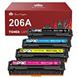 Toner Kingdom Compatible Toner Cartridge Replacement for HP 206A 206X W2110A W2110X for HP Color Laserjet Pro M255dw MFP...