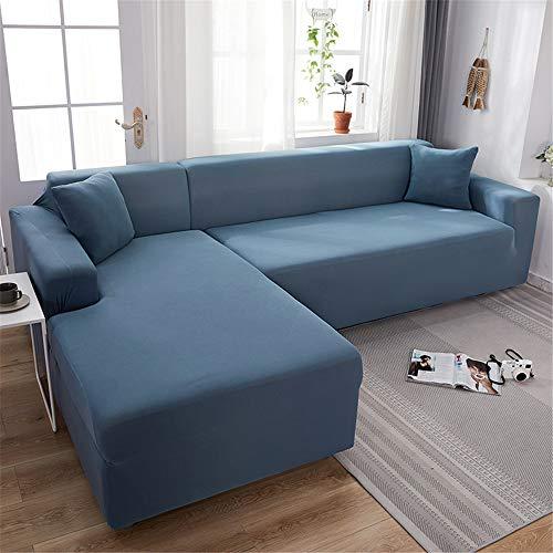 Surwin Funda de Sofá Elástica para Sofá de 1 2 3 4 plazas, Impresión Universal Cubierta de Sofá Cubre Moda Sofá Antideslizante Sofa Couch Cover Protector (Lago Azul,3 plazas - 190-230cm)