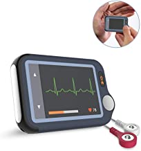 Heart Health Tracker with Free APP PC Software, Cable or Cable Free 30S/60S/5Mins Recording, Portable ECG/EKG Fitness Home Use Heart Rate Monitor for Wellness Use