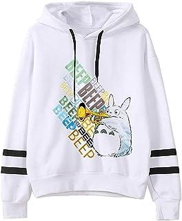 Totoro Hoodie Women's Pullover Men's Sweatshirt Japanese Anime Sweatshirt Harajuku Hoodie Unisex (Color : E, Size : Small)