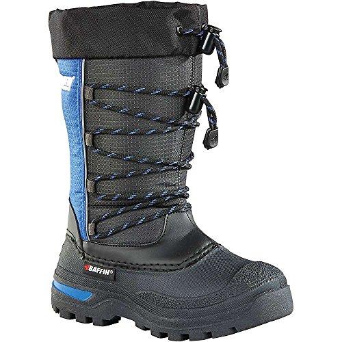Baffin Unisex-Child Spruce Snow Boot, Black/Deep Blue, 4 M US Big Kid