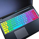 MUBUY Keyboard Cover fit Dell Inspiron 15 3000 5000 Series |Dell Inspiron 17 3000 7000 Series |Dell G3 G5 G7 15 17 Series |Dell Vostro 3000 5000 7000 Series US Keyboard Cover-Rainbow
