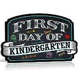 First Day of School Photo Picture Prop Rigid Coroplast Sign | 10 inches x 15.5 inches | Preschool | Kindergarten | 1st Grade Plaque (Kindergarten)