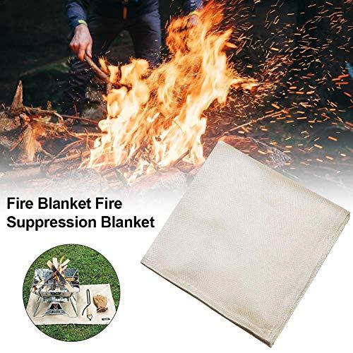 Dettelin Resistente Manta Mat Manta del Fuego Grill Garaje Esterilla Protectora de Alta Temperatura para Acampar al Aire Libre Barbacoa Retardante
