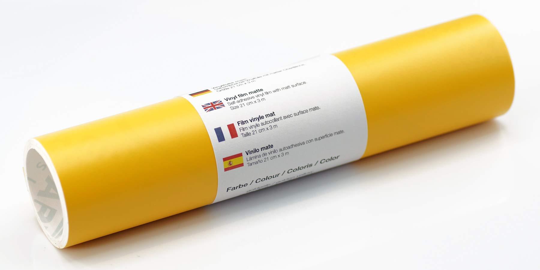 Lámina de tatuaje de pared mate 21 cm x 3 m - elección de colores, Color:Amarillo Dorado: Amazon.es: Hogar