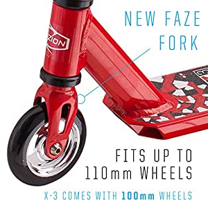 Fuzion X-3 Pro Scooter (2018 Red)