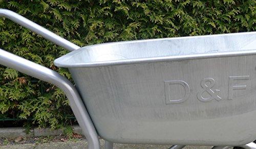 Schubkarre 200Kg für Garten, Bau und Stall mit Stahlfelge, Vollverzinkt, Pulverbeschichtet - 3