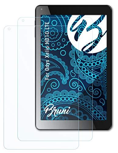 Bruni Schutzfolie kompatibel mit Odys Xelio HD10 LTE Folie, glasklare Bildschirmschutzfolie (2X)