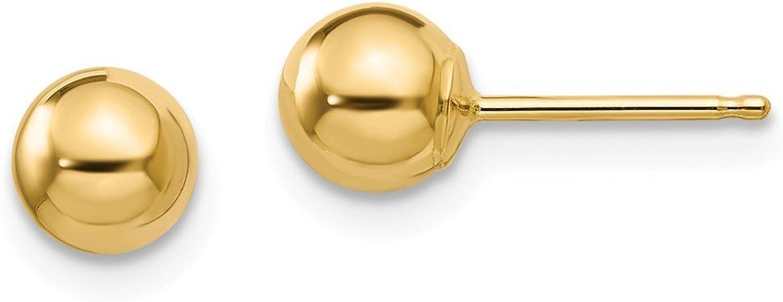 Beautiful Yellow gold 14K Yellowgold 14k Madi K Polished 5mm Ball Post Earrings