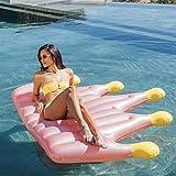 GPQHSM Bikini Piscine d'été Float Gonflable Couronne Matelas Piscine Anneau Cercle Eau Jouets Femmes Plage Matelas Gonflable (Color : 150cmx145cm)