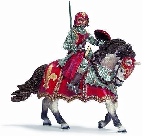 minoristas en línea Schleich Schleich Schleich Fleur-De-Lis rojo Knight On A Horse With Sword by Schleich North America [Toy]  barato y de alta calidad