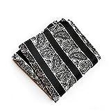 NJZYB Juego de 5 pañuelos de seda para hombre, 25 x 25 cm, diseño floral, tejido jacquard de seda y bolsillo cuadrado (color: C, tamaño: 25 x 25 cm)