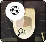 2-er Set - Pissoir-Zielhilfe, Urinal-Zielhilfe, Zielhilfe für Pinkelbecken - Ball - Fußball