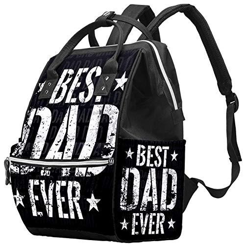 Backpacks DiaperBag Laptop Rucksack Lightweight Hiking Camping Travel Daypack for Women Stylish Best Dad Ever Black