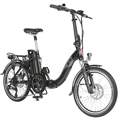 AsVIVA E-Bike Elektro Faltrad B13 mit 36V 15,6Ah Samsung Akku, extrem kompakt | 20″ Klapprad mit 7 Gang Shimano Kettenschaltung, Bafang Heckmotor, Scheibenbremsen | Elektrofahrrad schwarz