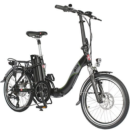 "AsVIVA E-Bike 20\"" Klapprad, Elektrofahrrad (15,6Ah Akku), 7 Gang Shimano Kettenschaltung, Heckmotor, Scheibenbremsen, schwarz"