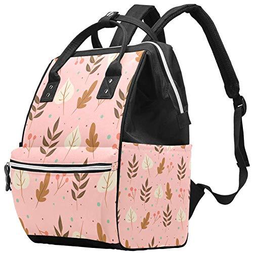 Grand sac à langer multifonction pour bébé - Collection automne vintage - Sac à dos de voyage pour maman et papa