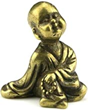Statue Head Sculptures Collection Chinese Brass Carved Small Monk Buddha Statue Small Statues