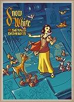 ポスター ジェームス フレームス Mondo Snow White 白雪姫 Cyclops Print 限定305枚 手書きナンバリング入り 額装品 ウッドベーシックフレーム(オフホワイト)