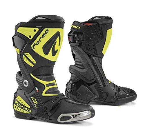 Forma FORV220–997838Stivali Moto Ice Pro Omologata CE, Nero/Giallo Fluo, 42