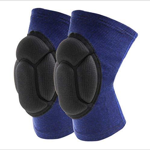 Wide.ling Knee Guard Knieschützer mit Kompression - Torwart Anti-Rutsch Knieschoner - Knie Protektor schwarz Blau SML Volleyball Knieschoner (Blau, L)