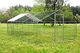 wonline Large Mental Chicken Coop, Hen Rabbit Chicken Cage, Backyard Walk-in Pens Crate Enclosure Playpen Pet Exercise