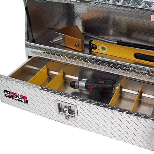 Westin Brute 80-TBS200-48-BD Pro Series 48' Contractor TopSider Tool Box with Doors & Drawers, Polished Aluminum