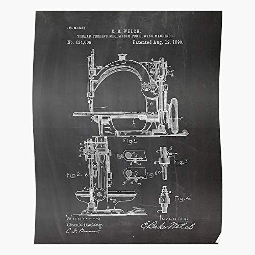 LAKO Tailor Art Singer Machine Sewing Best for Home Decor Fine Wall Art Print Poster