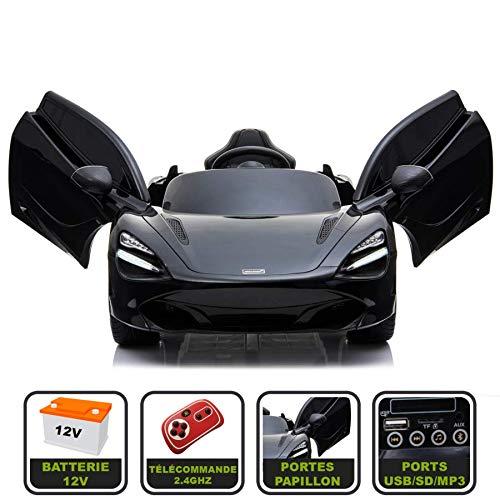 silex Voiture électrique 12V pour Enfant McLaren 720S Cristom - (Noir)