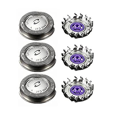 Shaver Head Replacement For Philips, Centtechi 3Pcs Electric Shaving Heads Rotary Blades for Men Double Layers Trimmer Razor Accessories