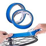 Yibang - Nastro per cerchione per bicicletta, 2 pezzi, 10 m x 21 mm, per pneumatici interni della bicicletta, antiforatura, antiforatura per bicicletta, in fibra di carbonio, senza tubo, blu