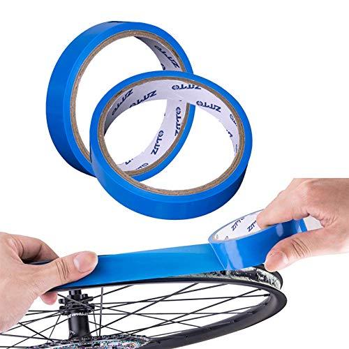 Yibang Fahrrad Felgenband Tubeless, 2-Stücke 10 m x 21mm FahrradReifen Band Fahrrad-Innenreifen Pannensicher Pannenschutzband Fahrrad Kohlefaserrohrrad Felgenband Schlauchloses, Blau