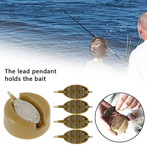 N/U 10 Pcs Fishing Inline Feeders, Fishing Inline Flat Method Feeder with Quick Release Mould Carp Fishing Method Feeder Coarse Carp Fishing Accessories 15g 20g 25g 35g