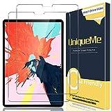 UniqueMe [2 Piezas] Protector de Pantalla para iPad 8th Gen 2020 10.9 Pulgada/iPad Air 4, [9H Dureza] [HD Film] [Anti-Mancha] Cristal Vidrio Templado de Lente de Cámara Premium