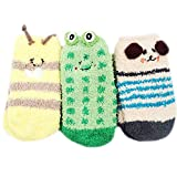 MEGA Baby Boys Girls Slipper Socks Cute Animal Design Fluffy Winter Floor Socks Birthday Xmas Gifts 1-4 Years Old