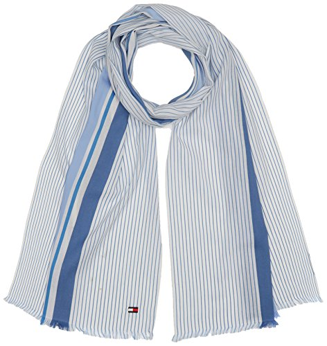 Tommy Hilfiger Heren SHIRT STRIPE SCARF sjaal, Blauw (Blue Mix 901), One Size (Manufacturer Maat: OS)