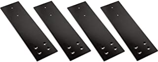 Thickness 2.0mm QCAA Corner Bracket 125x150x25mm 4 Pack Steel White Coated