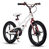 Royal Baby Kinderfahrrad Jungen Mädchen Space Shuttle Magnesium Fahrrad Stützräder Laufrad Kinder Fahrrad 18 Zoll Weiß