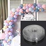 LASISZ DIY Latex Luftballons Modellierungswerkzeug Kunststoff Ballonkette 5M Ballon Krawattenknopf Werkzeug Geburtstagsfeier Hochzeitsdekoration Zubehör, 1pc Krawatte Ballon Werkzeug