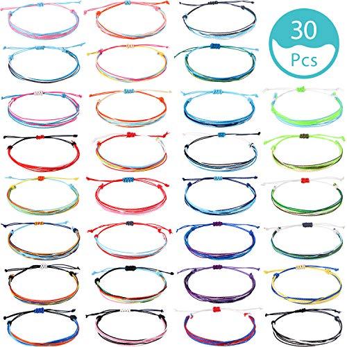 classement un comparer 30 bracelets hicarer tressés réglables en corde tressée bohème…