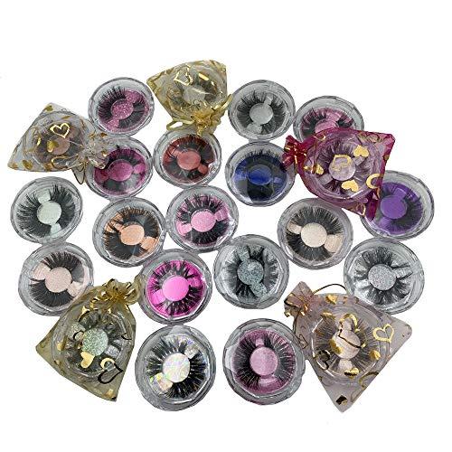 U-Hotmi 10 Styles Mink Eyelashes Pack False Eyelashes Wholesale Handmade 25mm Thick Full Strip Lashes 30 Pairs