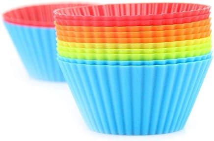 20pcs pequeño molde de pastel de silicona muffin taza redonda 7 cm pastel de taza