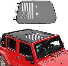 JeCar for Jeep JKUSunshade Mesh Top Mesh Top Sun Shade JKU Front Sunshade UV Protection for 2007-2018 Jeep Wrangler JKU 4 Door