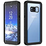 SPIDERCASE Samsung Galaxy S8 Waterproof Case, Full Body Sealed Protection with Built-in Screen Protector IP68 Certified for Samsung Galaxy S8 (Black)