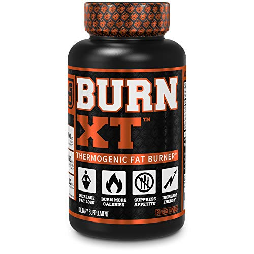 Burn-XT Thermogenic Fat Burner - Weight Loss Supplement, Appetite Suppressant, Energy Booster - Premium Fat Burning Acetyl L-Carnitine, Green Tea Extract, More - 120 Natural Veggie Diet Pills.