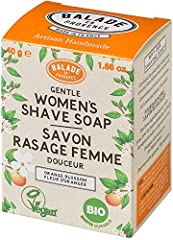 Zero Waste Organic Shaving Soap for women. Gentle. Cold Processed (no heating of the ingredients), for more nourishing soaps Economical: The soap will last longer than a shaving foam Certified Vegan and Organic. No Sulfate or harsh ingredients Made b...
