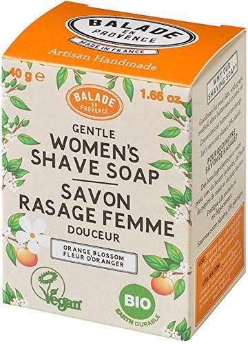 Savon a raser pour Femmes, 40g, BIO, 10% beurre de...
