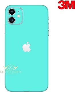 SopiGuard Skin for Apple iPhone 11 Precision Edge-to-Edge Vinyl Sticker Full Body Wrap (3M Satin Turquoise Blue)