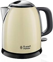 Russell Hobbs Mini-Wasserkocher Colours+ creme, 1,0l, 2400W, Schnellkochfunktion, herausnehmbarer Kalkfilter, optimierte Ausgusstülle, kleiner Reisewasserkocher, kompakter Teekocher 24994-70